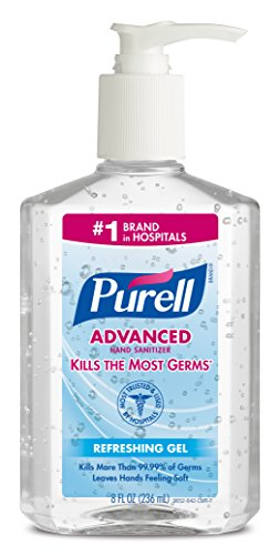 PURELL 9652 Advanced Instant Hand Sanitizer, 8 Ounce Pump Bottle (Pack of 12) Instant Hand Sanitizer Bottle