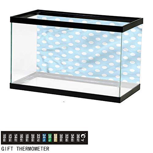 bybyhome Fish Tank Backdrop Aqua,Vintage 50s 60s Polka Dots,Aquarium Background,72