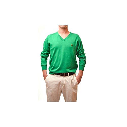 Lyle & Scott Pull Vert COL v Pour Homme - Vert, S