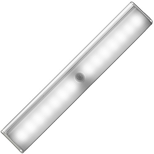 LED Motion Sensor Closet Light, Rechargeable Battery Operated Light Bar, Wireless Under Cabinet Lights with Stick-Anywhere Magnetic Hook Loop Tape