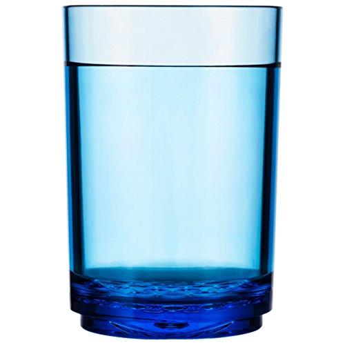 Drinique Elite Pint 16 oz. Tumbler | Set of 4 Blue | Unbreakable BPA-free Premium Tritan Plastic Drinking ()