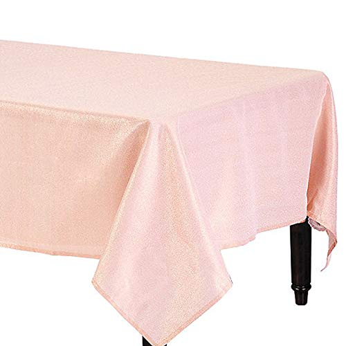 Amscan Metallic Rose Gold Fabric Tablecloth -