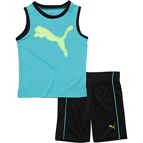 Puma 2-Pc. Graphic-Print Tank Top & Shorts Set Size 6