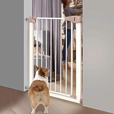 Puertas de bebé Puertas Abatibles For Bebés Ajustables For Puertas De Escaleras, Puertas For Mascotas De Montaje A Presión con Puerta De Cierre Automático For Perros Gato, 75-117 Cm De Ancho: Amazon.es: