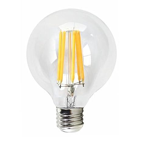 Silver Electronics LED Filamento Globo, E27, 6 Watts, Transparente W: Amazon.es: Iluminación