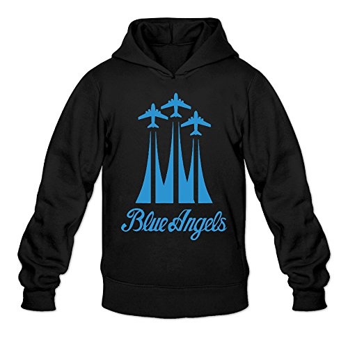 [DVPHQ Men's Superior US Navy Blue Angels Plane Hooded Sweatshirt Size XL Black] (Fat Albert Costume Ideas)