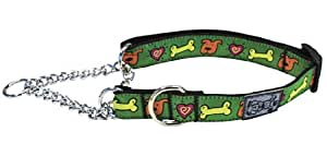 RC Pet Products 3/4-Inch Training Martingale Collar, Medium 9 to 14-Inch, Me Love Treats