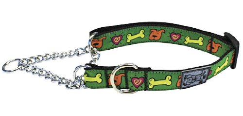 RC Pet Products 1-Inch Training Martingale Collar, X-Large 18-26-Inch, Me Love Treats