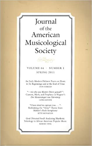 Journal of the American Musicological Society :An Early