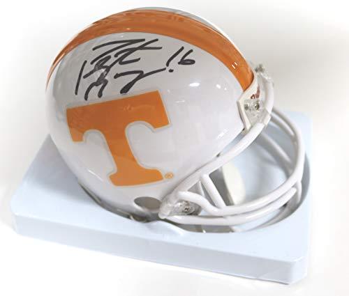 - Peyton Manning Tennessee Volunteers Signed Autographed Football Mini Helmet COA