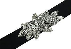 SoarDream Wedding Belt, Rhinestone Bridal Belts, Wedding Belt, Bridal Sash, Ivory.