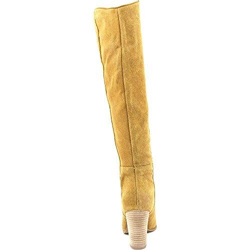 Guess dedo del pie redondo del ante de Tan Honon rodilla alta bota Medium Natural