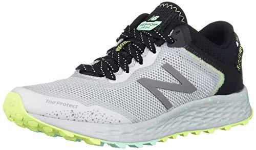New Balance Women's Arishi V1 Fresh Foam Trail Running Shoe, Light Aluminum/Black/NEO Mint, 12 B US
