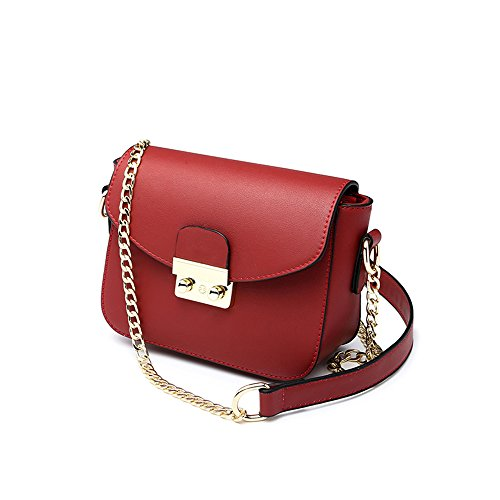 Color Handbags Package Bags Summer Backpack Brown Red Package Korean Wild Mini Chain Shoulder Female Oblique 47wqAzwn