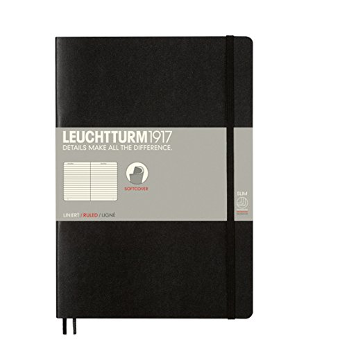 LEUCHTTURM1917 SOFTCOVER IN COMPOSITION (B5) FORMAT RULED IN BLACK