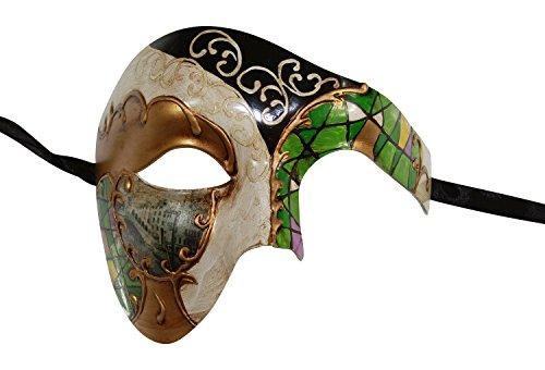 KAYSO INC Mosaic Phantom Of The Opera Venetian Masquerade Mask Unisex (Green)