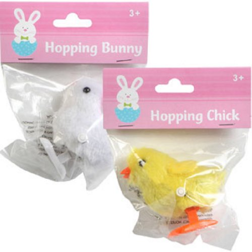 Hopping Wind Up Easter Chick and Bunny by Greenbriar International