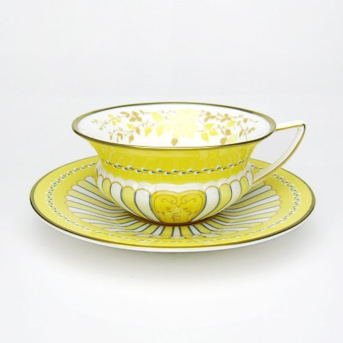 Wedgwood ( Wedgwood ) Harlequin Yellow Ribbon tea cup and saucer [ parallel import goods ]