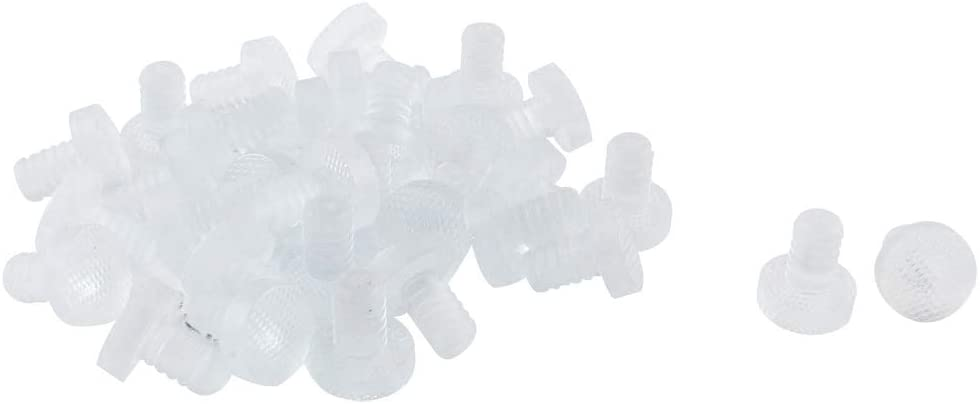 uxcell 32pcs 8mm Clear Soft Stem Bumpers Glide, Patio Outdoor Furniture Glass Table Desk Top Anti-collision Embedded