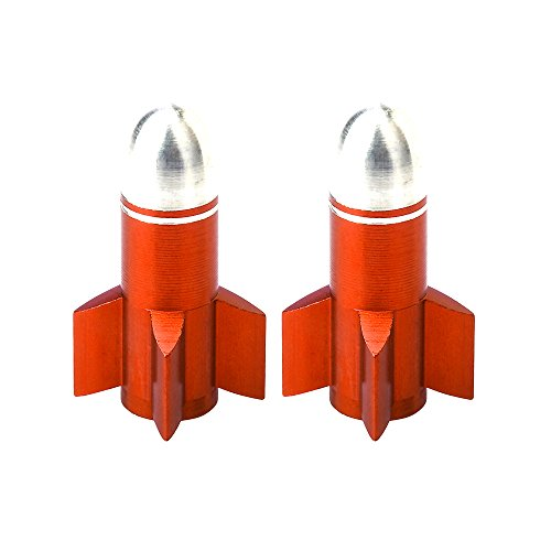 AKI WORLD(アキワールド) VALVE CAP ROCKET ORANGE OT-FR-058
