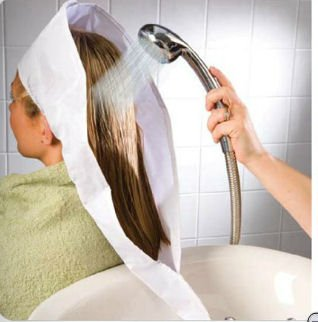 HAIR WASHING AID BONNET   HELP TO WASH HAIR WITHOUT BENDING OVER, GREAT  MOBILITY AID
