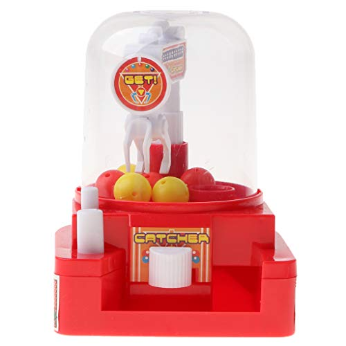 - Flameer Mini Ball Candy Grabber Machine Toys Fun Crane Claw Grabber Catcher Game - Vending Machine Pretend Play Toy - Red