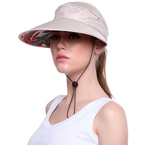 Ordenado Sun Hats for Women Wide Brim UV Protection Cap Summer Beach Packable Visor …