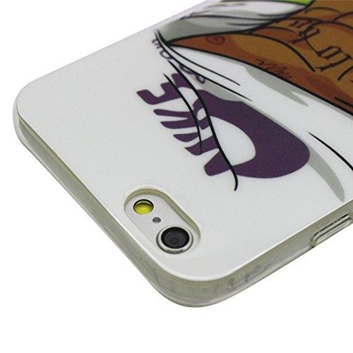 Phone Taschen & Schalen Sexy Mädchen Muster Transparente Rahmen TPU Fall für iPhone 6 Plus & 6S Plus ( SKU : S-IP6P-0201E )