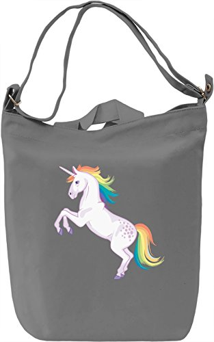 Unicorn Borsa Giornaliera Canvas Canvas Day Bag| 100% Premium Cotton Canvas| DTG Printing|