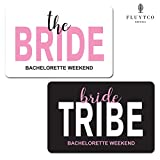 BRIDE TRIBE - Set of 20 Bachelorette Label Stickers for Mini Champagne Bottles & Gift Box - Bridesmaid, Maid & Matron of Honor Proposal Gift- Engagement Party- Bridal Shower