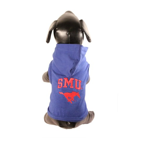 (NCAA Southern Methodist Mustangs Cotton Lycra Hooded Dog Shirt, XX-Large )