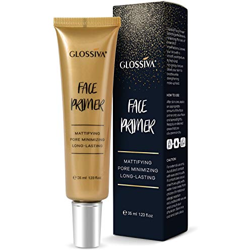 Glossiva Face Primer Matte – Big Pores Perfect Cover, Skin Flawless and Glowing, Long Lasting Makeup's Staying…