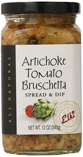 - Elki's Gourmet Artichoke Tomato Bruschetta, 12 Ounce
