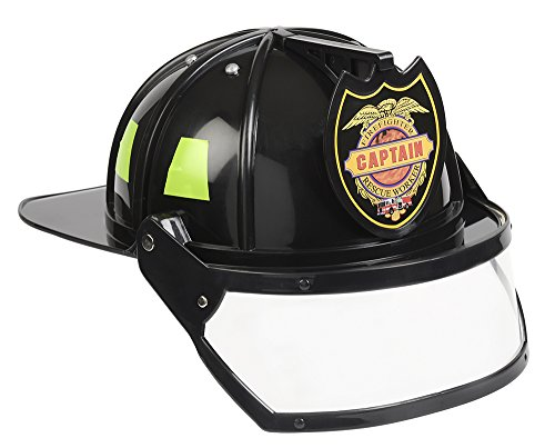 Aeromax Firefighter Helmet with Movable Visor, Black, Adjustable Size]()