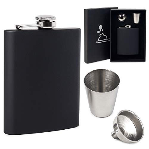 Best Man Hip Flasks - FunkyDrops Whiskey Flask for Liquor for