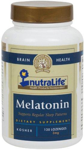 NutraLife casher Mélatonine 3 mg à croquer saveur de fraise 120 comprimés
