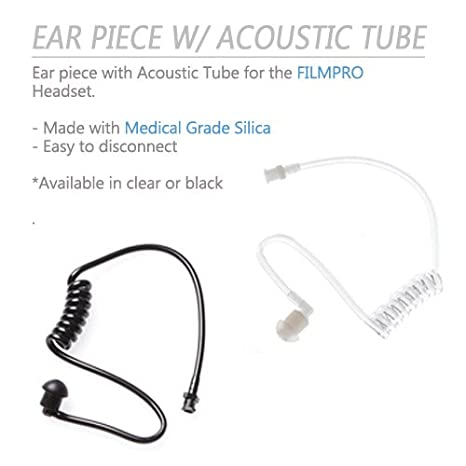 1 Set Air Tube Earplug Replacement Transparent Acoustic Coil For Radio Headset
