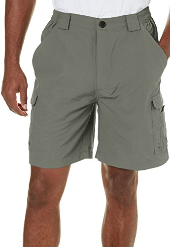 Reel Legends Mens Bonefish Shorts XX-Large Castor (Nylon Reels)