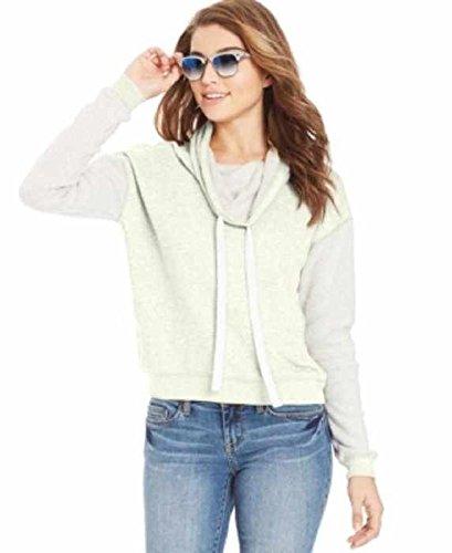 UPC 695532339522, Ultra Flirt Juniors' Colorblock Cowl-Neck Sweater Oatmeal (Large)