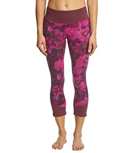 's Pulse Mid-Rise Crop Pants, Wild Aster Purple Botanical Print, Small ()