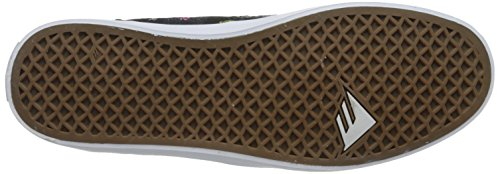 ZAPATOS EMERICA TROUBADOUR LOW BLACK WHITE PRINT
