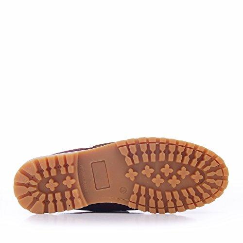 Marron Color Castellanísimos Piel Cordones Zapatos C01104 Con Náuticos Marrón Hombre a8Awaq