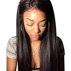 Lace Front Human Hair Wigs Straight Pre Plucked 130% Lace Front Wig Remy Hair,24inches,Full Lace Wig