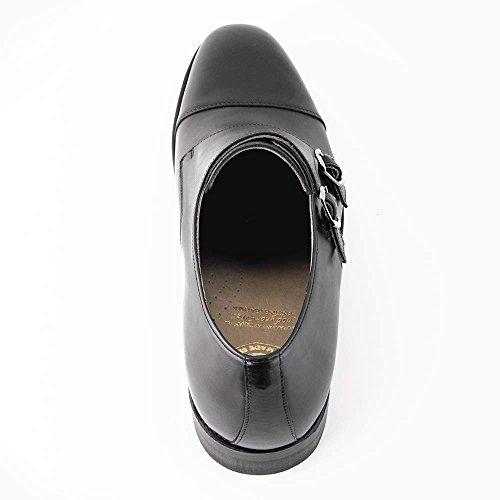 Scarpe Bertulli Scarpe Da Uomo Che Aumentano Di Invisibile Come La Loro Dimensione Corporea Fino A 7 Cm. Scarpe Da Uomo Con I Talloni Nascosti. Modello Nero Bristol