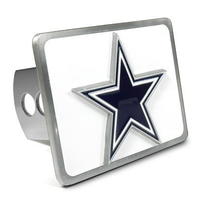(NFL Dallas Cowboys 3D Logo Metal Trailer Tow Hitch Cover )