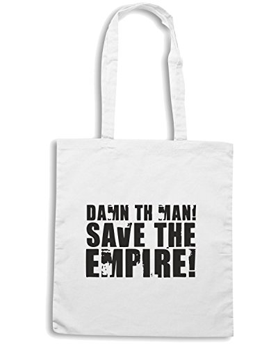 T-Shirtshock - Bolsa para la compra FUN1142 damn the man save the empire light tshirt Blanco