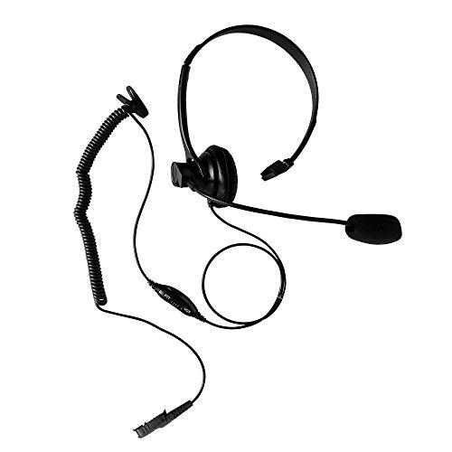 (Maxtop AHDH1000-AX Commercial Single Ear Muff Over Head Headset with Boom Mic for Motorola MOTOTRBO 2-Way Radio)