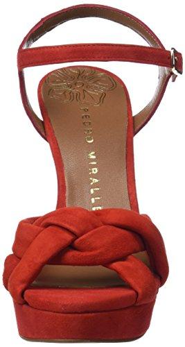 PEDRO MIRALLES 18806, Scarpe da Sposa Donna Rosso (Red)