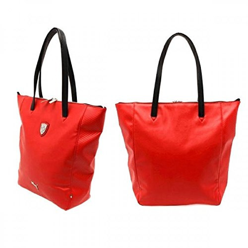Puma Womens Ferrari (PUMA Women's Ferrari Long Sleeve Shopper Bag, Rosso Corsa, One Size)