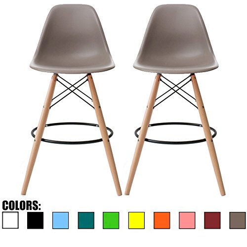 Taupe Armless Chair (2xhome - Set of Two (2) - Grey / Taupe - 25